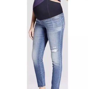 Isabel Maternity Distressed and Raw Hem Skinny